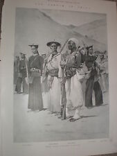 France army French colonial contingent at Shanghai China 1900 old print