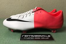 Nike Mercurial Vapor VIII FG White Solar Red Mens Sz 11.5 Superfly Magista CR7