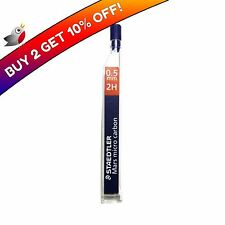 12 STAEDTLER MARS MICRO 0.5mm 2H MECHANICAL PENCIL REFILL LEADS