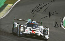 Neel Jani, Marc Lieb, Romain Dumas Hand Signed Porsche 919 Hybrid Photo 12x8 2.