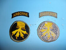 b3355 WW 2 US Army 17th Airborne Division Yellow Claw OD boarder Parachute R3D
