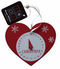 Christmas Countdown Clock Heart,Wood Advent Calendar Xmas Tree Wooden Decoration