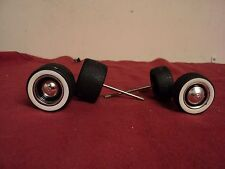 "Jada set of 4 ""V Dubs ""  wheels and tires and axles  1/24 scale  #201"
