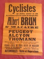 Affiche CYCLE PEUGEOT ALCYON THOMANN à SAINT MACAIRE (Gironde)
