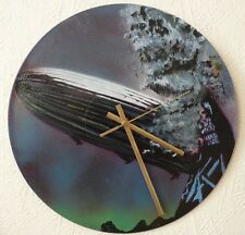 Led Zepplin inspired record wall clock.The WHO,PINK FLOYD.