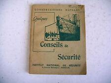 CONSTRUCTIONS NAVALES conseils de sécurité 1955