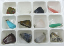 Wholesale Lot 10pcs MIX Natural Stone Anomalous Gemstone Necklace Pendant