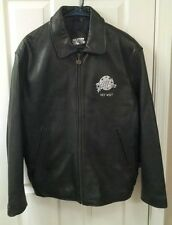 Planet Hollywood Men's Leather Jacket Key West Size Medium M Quilted Lining