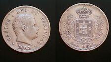 PORTUGAL / 500 REIS - 1893 / D.CARLOS I / SILVER COIN