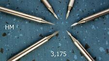 12 HM Gravierstichel Ø 3,175 20° CNC engraving bits Leiterplatten Stichel PCB H0