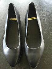 VAGABOND Women's Black Leather Platform Wedge Heel Shoes Size 40/9.5-10