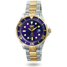 Invicta 3049 Men's Pro Diver Two Tone Gold Plated Blue Dial Watch