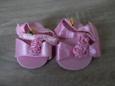 BUILD A BEAR PINK PRETTY PARTY SHOES WITH FLOWERS ON TEDDY