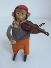 Vintage Schuco  Violin Monkey Made in Germany  Wind-up tin Toy  Works