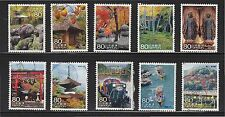JAPAN 2008 (PREFECTURE) TRAVEL SCENERY SERIES NO. 1 KYOTO SET OF 10 STAMPS USED