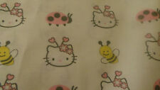 100% cotton hello kitty fabric per 1/2 yardow reduced