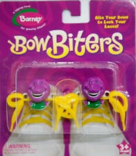 BARNEY THE PURPLE DINOSAUR Shoe Lace Bow Biters