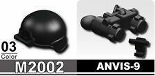 M2002+ANVIS-9 (W127+W6) Assault Helmet compatible with toy brick minifig SWAT