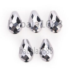 10x15mm Loose Glass Crystal Faceted Teardrop Spacer Beads Jewelry Findings