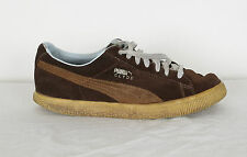 Puma Clyde Trainers UK 8.5, Brown Suede with Brown Stripe (HCN)