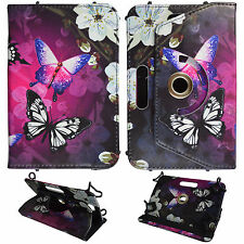 WF butterfly For Kindle Fire HD 6 inch Tablet Syn Leather Case Cover 360 Rotatin