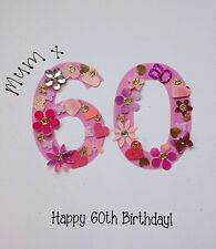 ANY AGE Personalised Handmade 80th 85th 90th 95th 100th Birthday Card