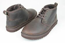 UGG Australia Boots Neumel Leather China Tea Shearling Sheepskin US Size 9 Men