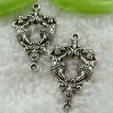 Free Ship 40 pcs tibet silver Cupid connector 36x23mm #568
