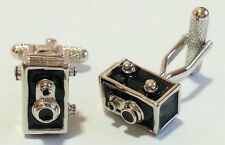 Single Lens Relex Camera Novelty Cufflinks NEW  Cuff LInks in gift box 20764