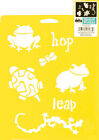 FROG STENCIL TURTLE SALAMANDRA FROGS BUTTERFLY BUG GECKO STENCILS TEMPLATE NEW