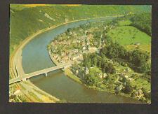 HASTIERE-sur-MEUSE (BELGIQUE) VOIE FERROVIAIRE , VILLAS & PONT vue aérienne 1972