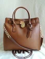 New Auth Michael Kors Hamilton Saffiano Leather Large NS Tote Bag Luggage $358