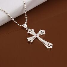 Men's Women's Unisex 925 Sterling Silver Necklace Pendant Cross  B89