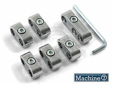 Chrome High Tension Plug Wire Separators Divider Clamps for 7mm Igniiton Leads