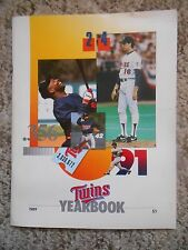 Old Vintage Minnesota Twins Yearbook 1989 MLB Baseball Booklet Publication
