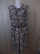 Jones New York Plus Size Belted Keyhole Sheath Dress 2X Animal Print #2220