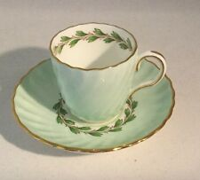 Minton Cheviot Green Demitasse Cup and Saucer