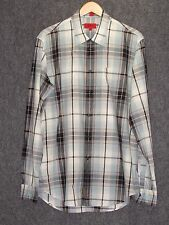 HUGO BOSS Colorful Plaid Regular Fit Cotton Casual Shirt SZ XL NEW