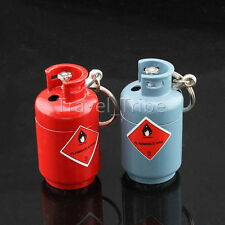 EDC Pocket Novelty Gas can Refillable Butane Fire Cigarette Lighter Key Ring