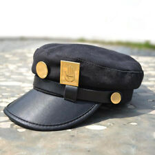 Anime JoJo's Bizarre Adventure Kujo Jotaro Cap Hat & Badge Cosplay Gift