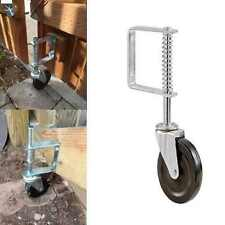 4-Inch Spring Loaded Gate Caster Rubber wheel 125-lb wood or chain Garage Door