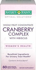 Natures Bounty Cranberry Complex with Hibiscus 60 Softgels women's health