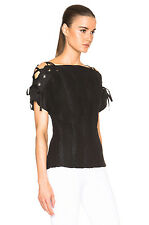 THAKOON LACE UP SLEEVE COTTON TOP SZ 2 UK 8/10 US 4/6 IT 40/42
