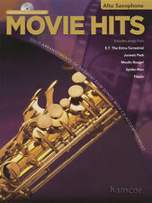 Movie Hits Instrumental Play-Along Alto Saxophone Music Book & Backing Tracks CD