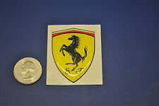 "FERRARI SHIELD 2"" RESIN COATED VINYL STICKER"
