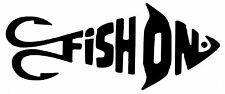 FISH - FISH ON,CARP,SEA, FLY FISHING, CAR BOATS, SEAT BOXES DECAL, SELF ADHESIVE