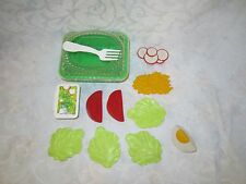 Fisher Price Fun with Food McDonalds Garden Salad Complete Set Tomato Cheese Lot