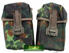 2 x UNISSUED GERMAN ARMY G3  MAGAZINE AMMO WEBBING POUCHES in FLECKTARN CAMO