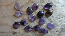 Cabochon Gemstone Amethyst Medium Purple 8x10mm (pkg 15)