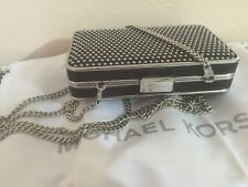 New MICHAEL Michael Kors ELSIE MICROSTUD  Box Clutch CROSS-BODY BAG 30H4SBXC 10